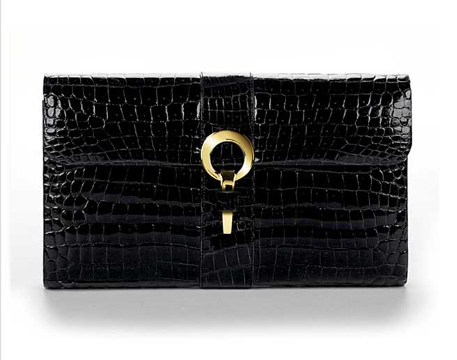 Hayward Black Porosus Clutch